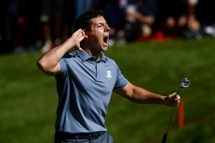 Rory McIlroy brought the roars to the Ryder Cup. (Getty Images)