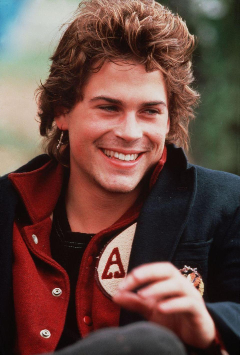 <p>Maybe Rob Lowe's character, Sodapop Curtis, was your favorite in <em>The Outsiders</em>, or you low-key fell in love with his severely dysfunctional character, Billy Hicks, in <em>St. Elmo's Fire</em>. Either way, no judgment here.</p>