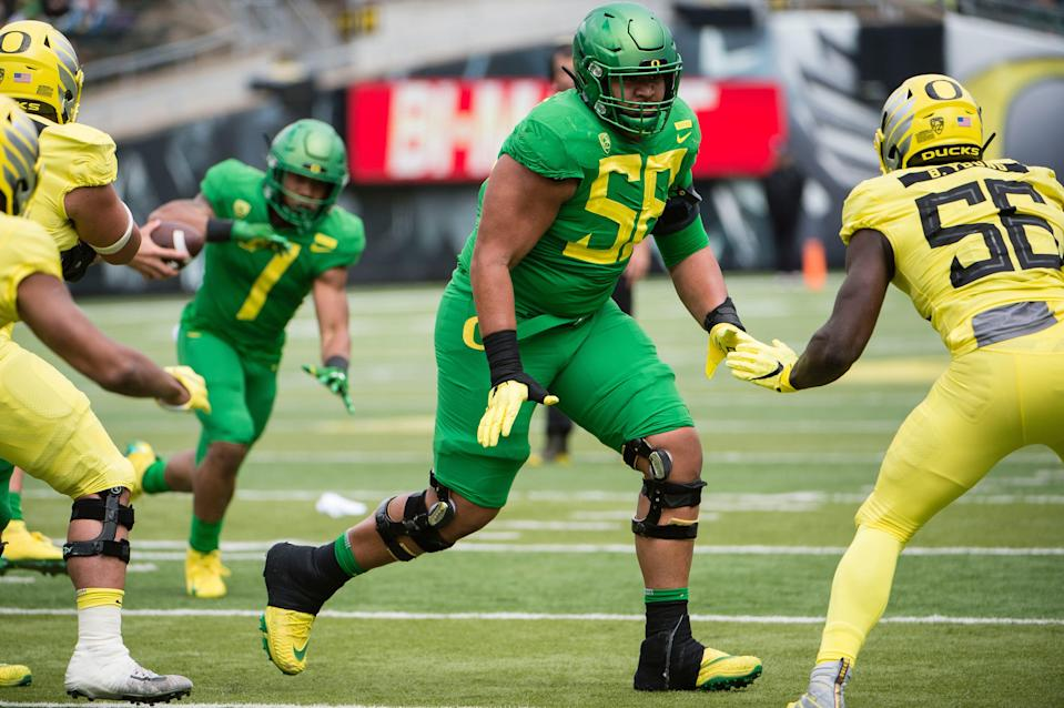 Will Oregon OT Penei Sewell (58) be the first non-quarterback drafted in 2021?