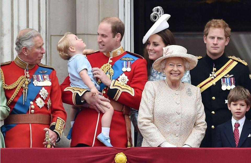 Prince Charles, Prince George, Prince William and Queen Elizabeth | Tim Rooke/REX Shutterstock