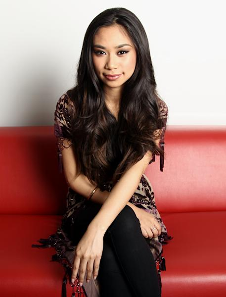 "In this Tuesday, April 16, 2013 photo, singer Jessica Sanchez poses for a portrait, in Los Angeles. The petite powerhouse enjoyed singing ballads on last season's ""American Idol,"" where she placed second. But the 17-year-old admits that ballads aren't her only interest: Sanchez is hoping to capture a new and younger audience with her debut album, ""Me, You and the Music,"" released April 30. (Photo by Matt Sayles/Invision/AP, File)"