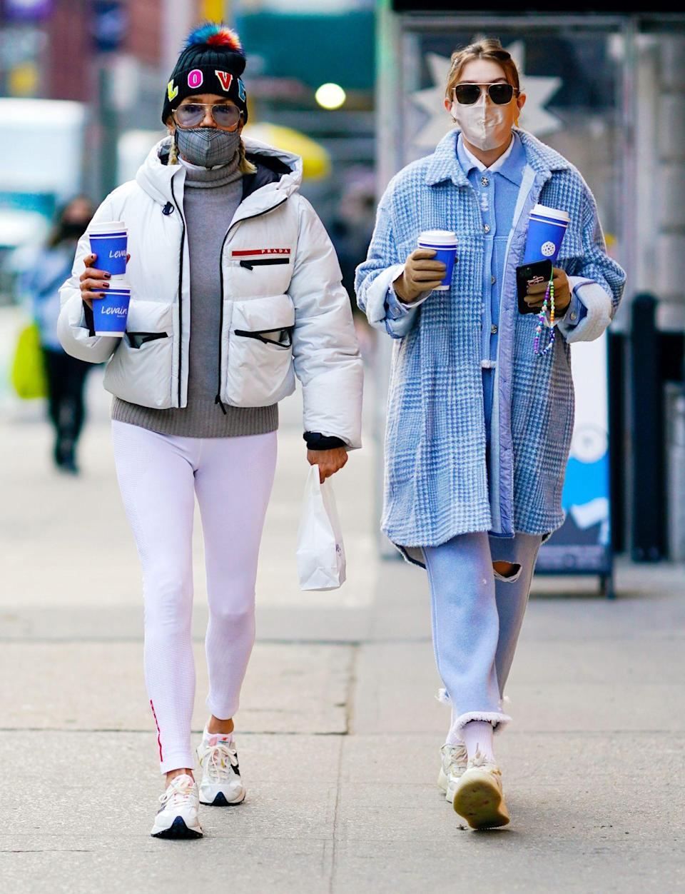<p>Gigi Hadid steps out with her mom Yolanda for a coffee run on Wednesday in N.Y.C. </p>