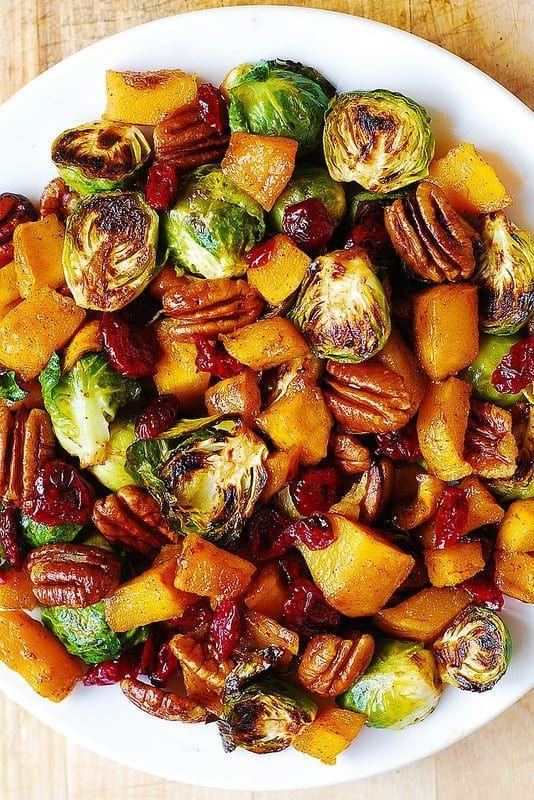 """<p>These roasted Brussels sprouts just scream autumn. Enjoy them after a day of apple picking.<br><strong><br>Get the recipe from <a href=""""https://juliasalbum.com/roasted-brussels-sprouts-cinnamon-butternut-squash-pecans-and-cranberries/"""" rel=""""nofollow noopener"""" target=""""_blank"""" data-ylk=""""slk:Julia's Album"""" class=""""link rapid-noclick-resp"""">Julia's Album</a>.</strong></p>"""