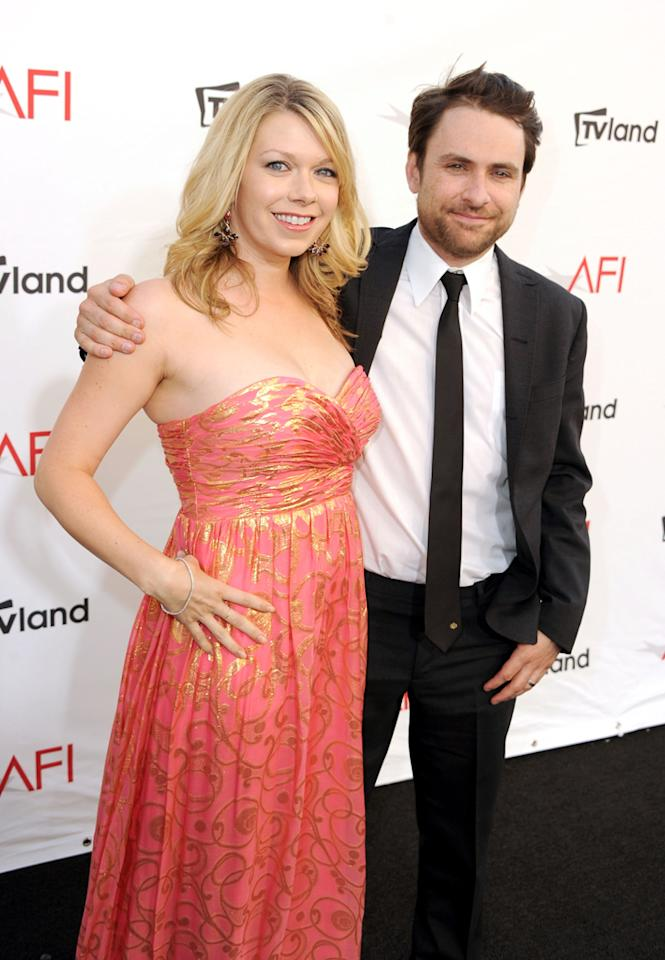 Charlie Day and Mary Elizabeth Ellis arrive at AFI's 40th Annual Life Achievement Award held at Sony Pictures Studios on June 7, 2012 in Culver City, California.