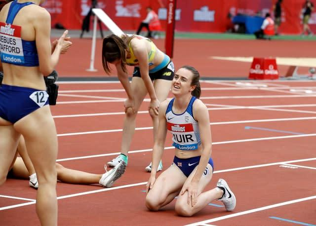 Great Britain's Laura Muir won the 1500m at the London Diamond League meet on Saturday (Martin Rickett/PA)