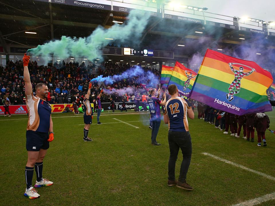 <p>Harlequins host the first Pride Match in February 2020</p> (Getty Images for Harlequins)