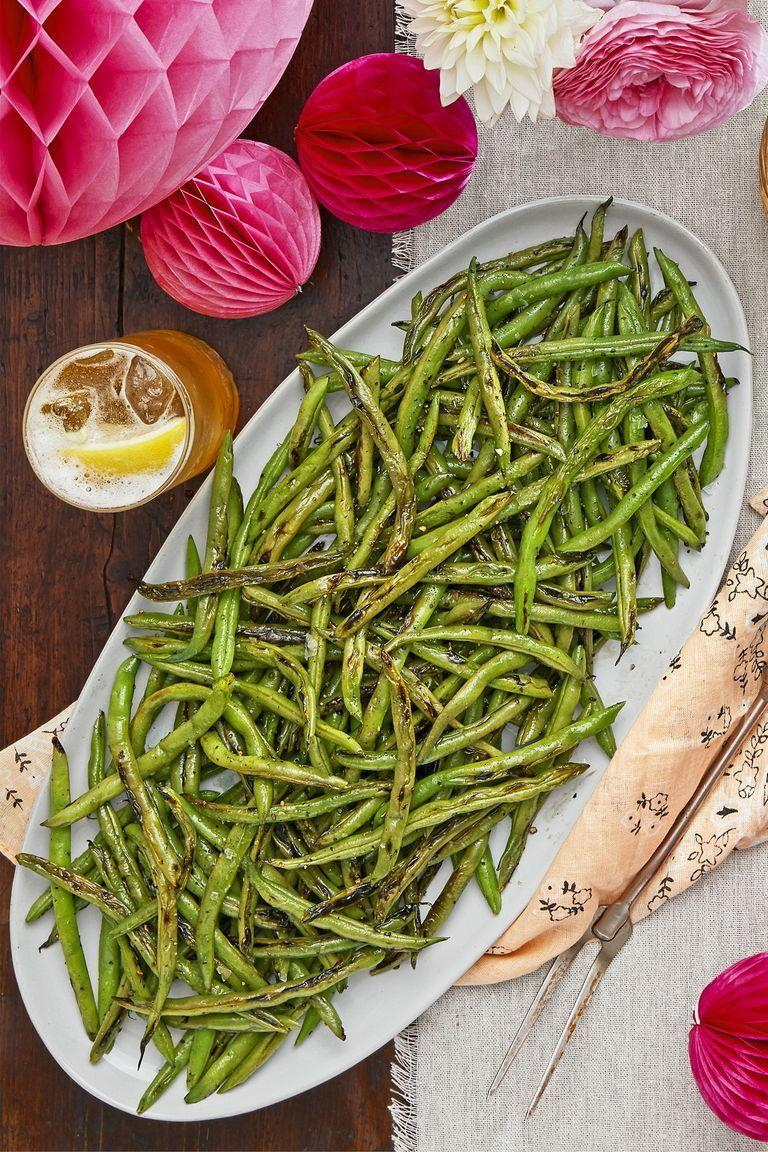 """<p>These <a href=""""https://www.countryliving.com/food-drinks/g1547/green-bean-recipes/"""" rel=""""nofollow noopener"""" target=""""_blank"""" data-ylk=""""slk:green beans"""" class=""""link rapid-noclick-resp"""">green beans</a> are simply seasoned, but they're still downright delicious. Plus, they're prepared in just a few minutes.</p><p><a href=""""https://www.countryliving.com/food-drinks/a22666853/salt-and-pepper-charred-green-beans-recipe/"""" rel=""""nofollow noopener"""" target=""""_blank"""" data-ylk=""""slk:Get the recipe"""" class=""""link rapid-noclick-resp""""><strong>Get the recipe</strong></a><strong>.</strong></p>"""