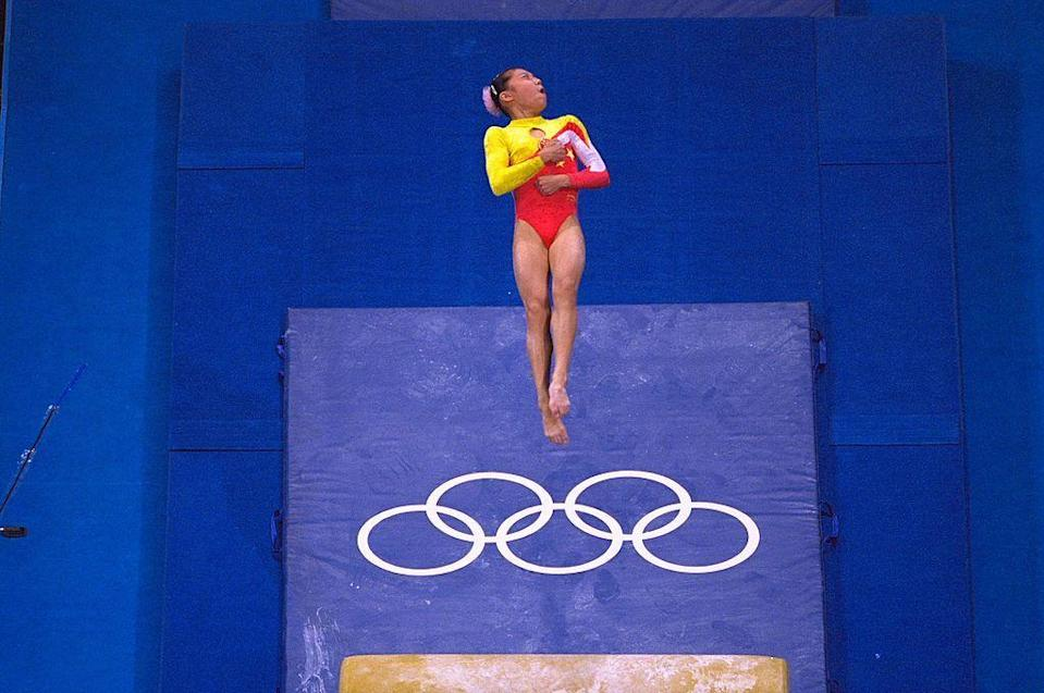 """<p>Eight years after the 2000 Olympics, an investigation uncovered that Chinese gymnast <a href=""""https://www.wsj.com/articles/SB10001424052748704423504575212053805495856#:~:text=The%20International%20Olympic%20Committee%20stripped,of%20a%20women's%20team%20event."""" rel=""""nofollow noopener"""" target=""""_blank"""" data-ylk=""""slk:Dong Fangxiao falsified her age during the competition"""" class=""""link rapid-noclick-resp"""">Dong Fangxiao falsified her age during the competition</a>. Her registration suggested she was 17 years old, when she was actually just 14 at the time. She had her bronze medal stripped away from her as a result.</p>"""