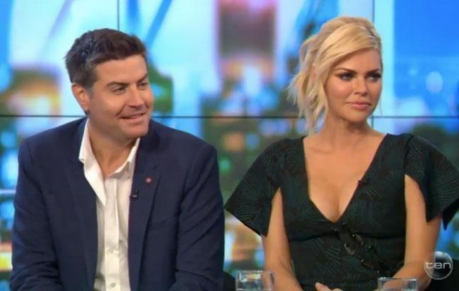 The couple appeared on channel Ten's 'The Project,' with Stu appearing to show-off his favourite blazer. Source: Ten