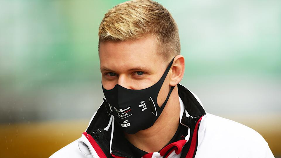 Formula 2 driver Mick Schumacher is pictured at the Eifel Grand Prix.
