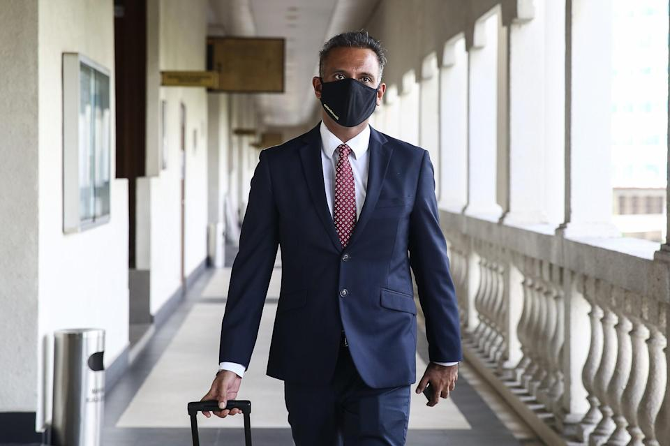 Ramkarpal Singh is pictured at the Kuala Lumpur High Court September 9, 2020. — Picture by Yusof Mat Isa