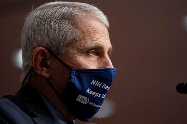 Anthony Fauci, MD, Director, National Institute of Allergy and Infectious Diseases, National Institutes of Health, testifies during a U.S.Senate Health, Education, Labor, and Pensions Committee Hearing, September 23, 2020.   (Pool/Reuters)