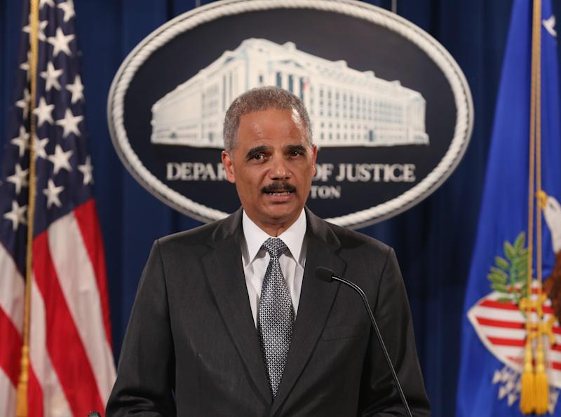 U.S. Attorney General Eric Holder speaks at the Justice Department on Dec. 3, 2014 in Washington D.C. | Mark Wilson—Getty Images