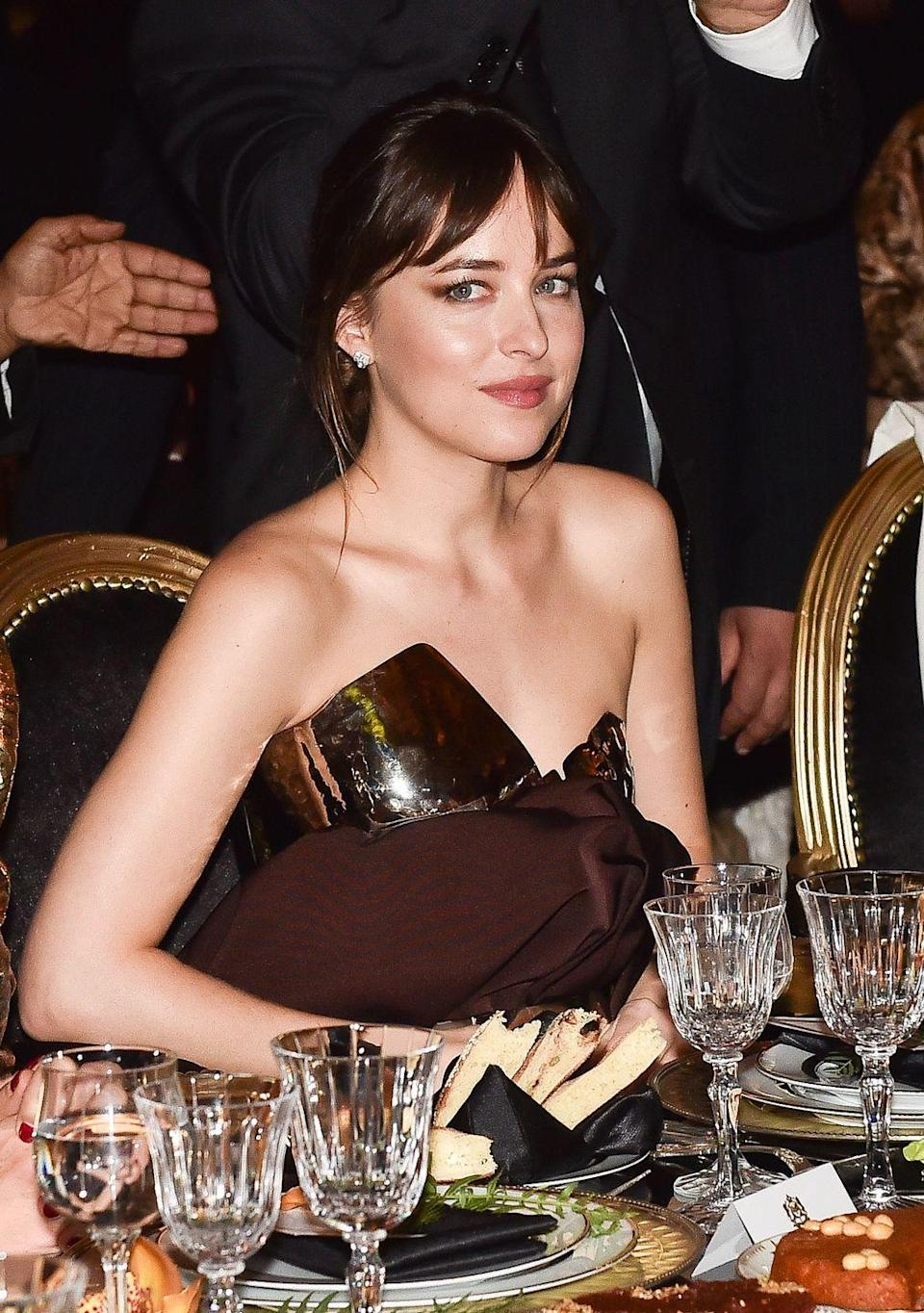 <p>Known for her breakout role as Anastasia Steele in the <em>Fifty Shades of Gray </em>trilogy, Dakota Johnson was named Miss Golden Globe in 2006– carrying on the Hollywood legacy of both her mother, Melanie Griffith, who was also a Miss Golden Globe. </p>