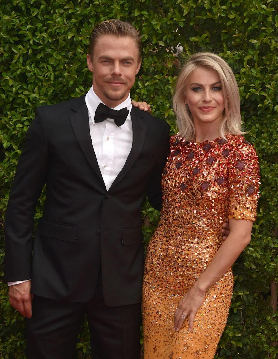 <p>The blonde brother-sister duo both started their Hollywood careers on <em>Dancing With the Stars</em>. In addition to sharing the dancing gene, Derek and Julianne have nearly identical noses, eyes, and heart-shaped faces. </p>