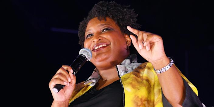 Stacey Abrams bustle