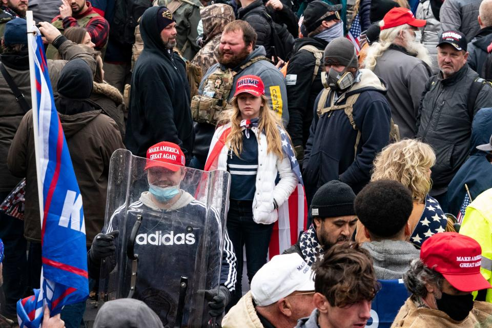 Criminals and QAnon conspiracy theorist were among those in the mob. Source: Getty