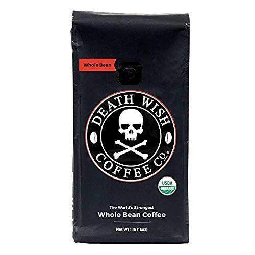 """<p><strong>Death Wish Coffee Co.</strong></p><p>amazon.com</p><p><strong>$19.96</strong></p><p><a href=""""https://www.amazon.com/dp/B006CNTR6W?tag=syn-yahoo-20&ascsubtag=%5Bartid%7C1782.g.33013485%5Bsrc%7Cyahoo-us"""" rel=""""nofollow noopener"""" target=""""_blank"""" data-ylk=""""slk:BUY NOW"""" class=""""link rapid-noclick-resp"""">BUY NOW</a></p><p>A fair warning: This dark roast is not for the faint of heart. The upstate-New York brand of coffee claims to make the <a href=""""https://www.deathwishcoffee.com/"""" rel=""""nofollow noopener"""" target=""""_blank"""" data-ylk=""""slk:world's strongest coffee"""" class=""""link rapid-noclick-resp"""">world's strongest coffee</a>. But with deep nutty flavor and a smooth finish, it doesn't taste as harsh as you would expect a cup of coffee with double the average amount of caffeine would taste.</p>"""
