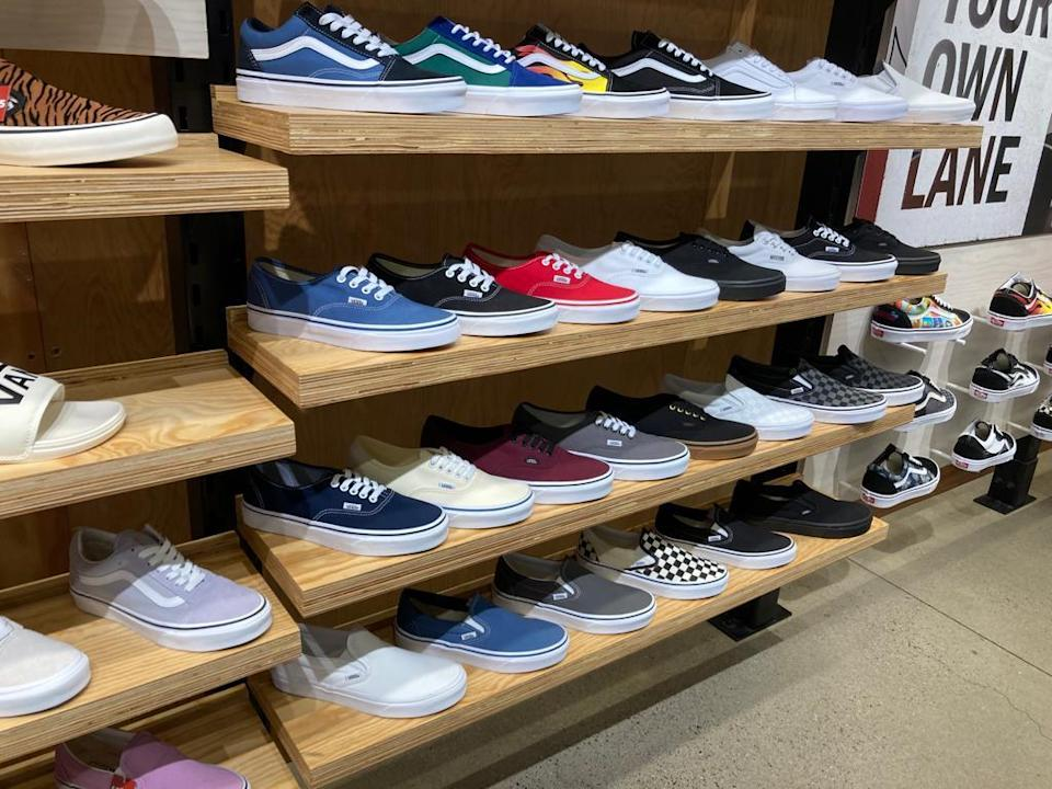 There was no noticeable out-of-stock condition in the Vans store in New York.  - Credit: Shoshy Ciment / Footwear News