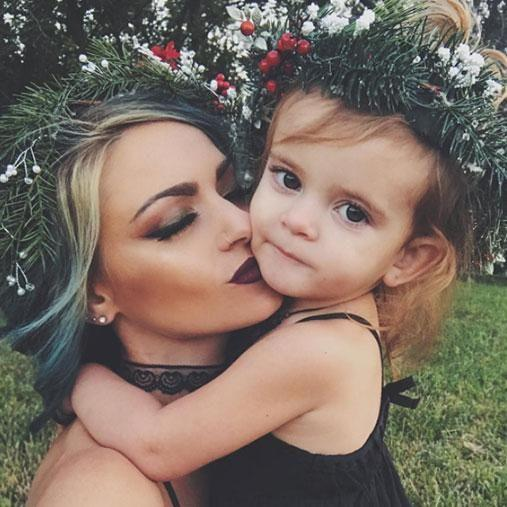 Charity says her daughter had been begging her for pink hair for ages. Photo: Instagram