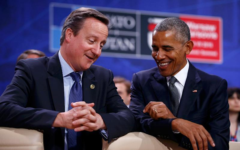 David Cameron's quip referenced unsubstantiated White House suggestions British intelligence helped Democratic former president Barack Obama spy on the Donald Trump - Reuters