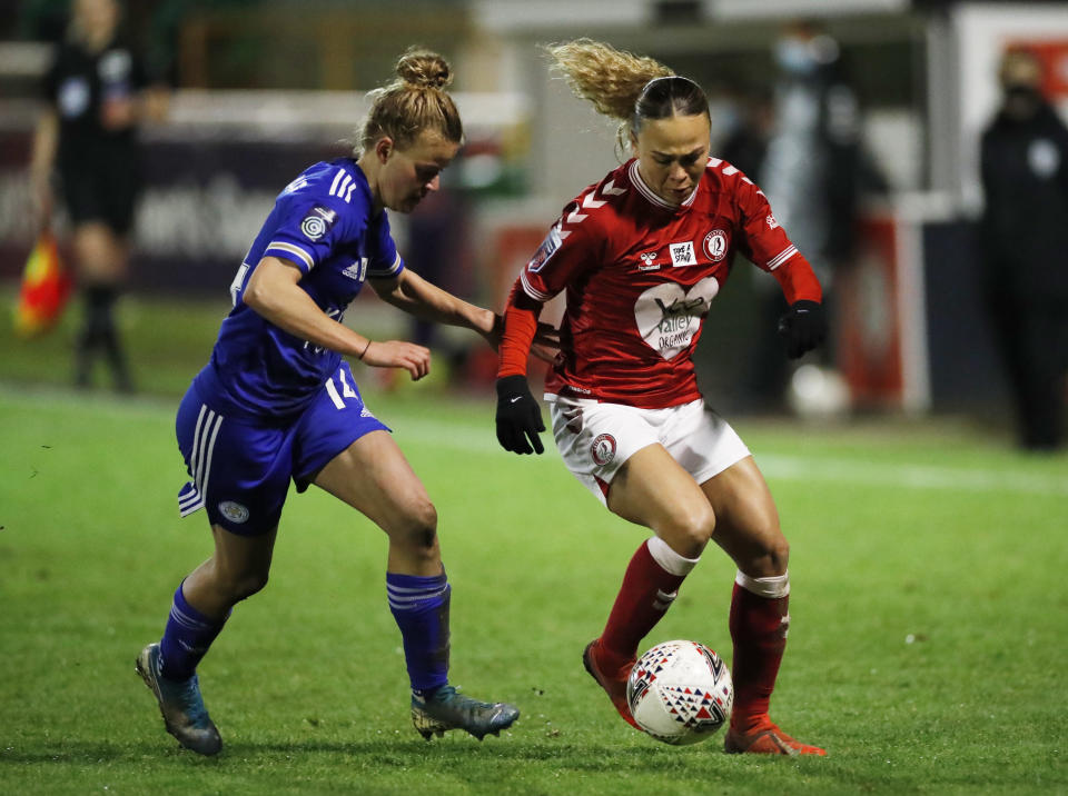 Ebony Salmon will be hoping to add to her four Conti Cup goals and aid Bristol City's bid for glory © Action Images via Reuters