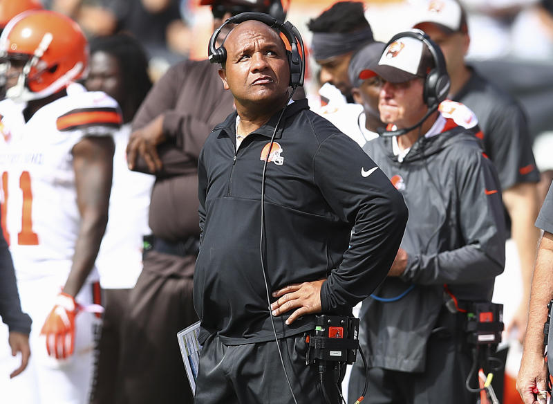 Hue Jackson's ill-advised press tour is a scapegoating mess