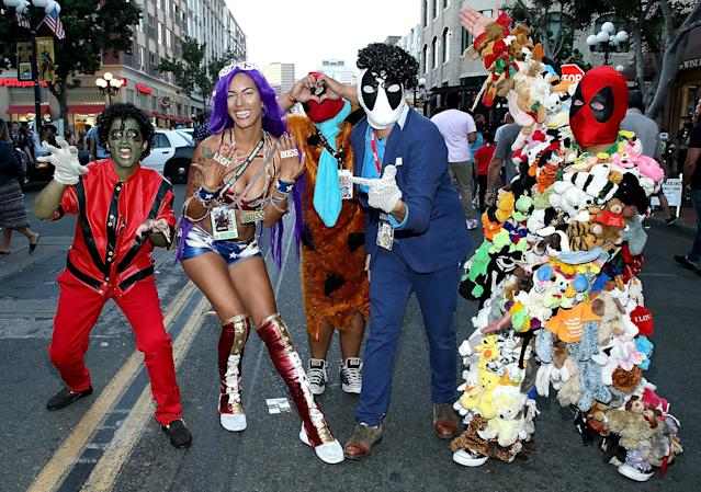 <p>Cosplayers at Comic-Con International on July 20, 2018, in San Diego. (Photo: Phillip Faraone/Getty Images) </p>