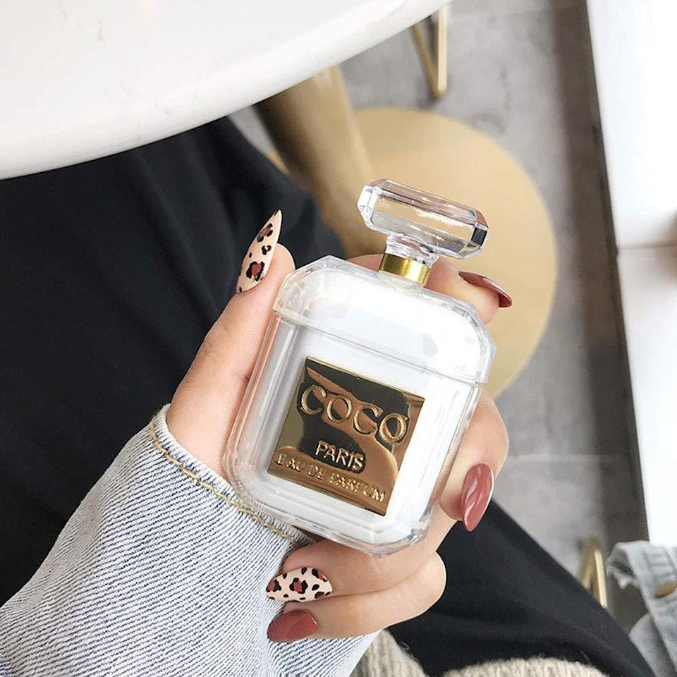 """<h3><a href=""""https://amzn.to/2SThzTP"""" rel=""""nofollow noopener"""" target=""""_blank"""" data-ylk=""""slk:Perfume Bottle Shaped AirPods Case"""" class=""""link rapid-noclick-resp"""">Perfume Bottle Shaped AirPods Case</a></h3><br><strong>Vanessa </strong><br><br><strong>How She Discovered It:</strong> """"Looking for something to differentiate my air-pods from everyone else.""""<br><br><strong>Why It's A Hidden Gem:</strong> """"Cute and special design for an affordable price.""""<br><br><strong>UR Sunshine</strong> Perfume Bottle Shape AirPods Case, $, available at <a href=""""https://www.amazon.com/gp/product/B07QYH67G7/ref=ppx_yo_dt_b_asin_title_o04_s00"""" rel=""""nofollow noopener"""" target=""""_blank"""" data-ylk=""""slk:Amazon"""" class=""""link rapid-noclick-resp"""">Amazon</a>"""
