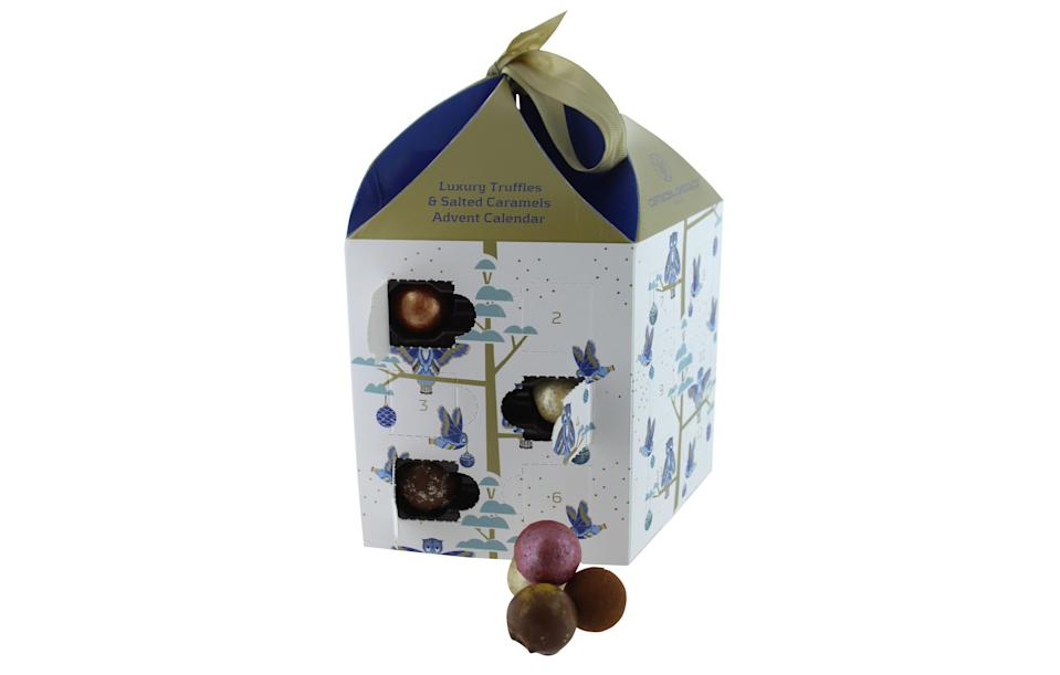 "<p>Strictly for adults only, this luxury advent calendar boasts boozy chocolates such as prosecco truffles along with more tropical flavours including fig and guava ganace and spiced clementine.<br><a href=""https://www.johnlewis.com/artisan-du-chocolat-advent-calendar-250g/p3268133"" rel=""nofollow noopener"" target=""_blank"" data-ylk=""slk:John Lewis, £25"" class=""link rapid-noclick-resp""><i>John Lewis, £25</i></a> </p>"