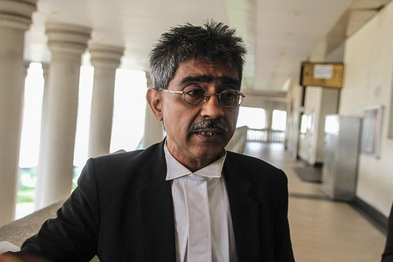 Lawyer Mohamed Haniff Khatri Abdullah said his clients filed the application yesterday evening against Tengku Adnan's remarks amid a lawsuit seeking Umno's dissolution. — Picture by Shafwan Zaidon