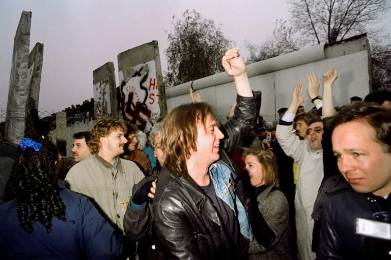 """For years after the Berlin Wall fell in 1989, the mantra for millions of former East Germans was to """"Go West"""" for better jobs and opportunities (AFP Photo/PATRICK HERTZOG)"""