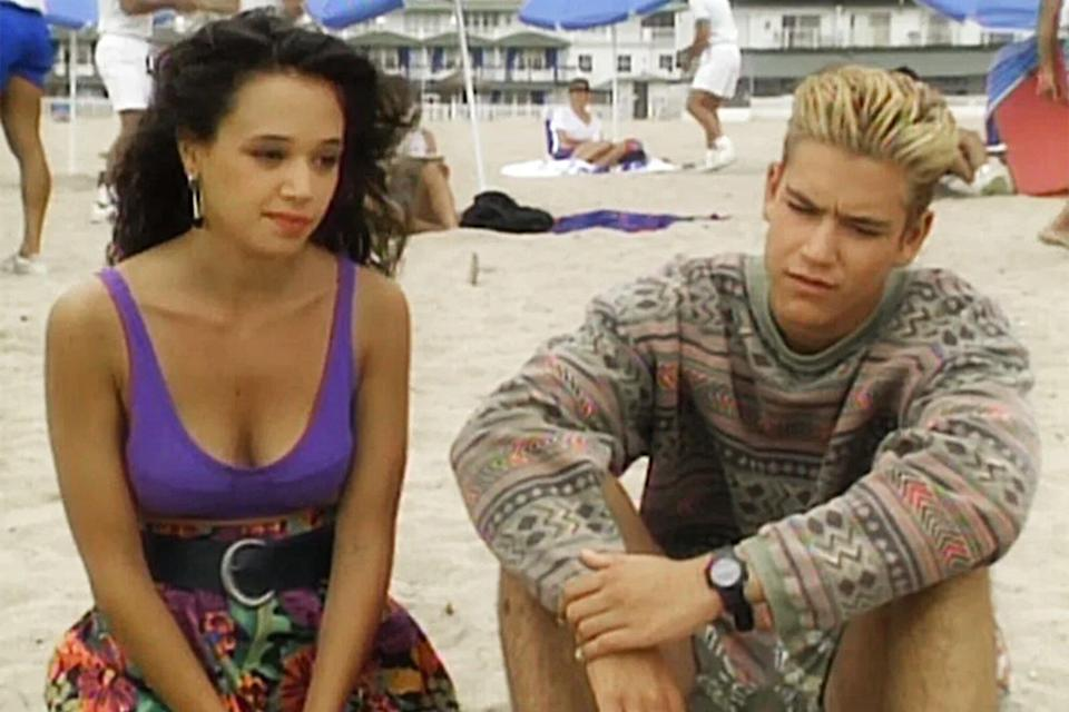 Saved by the Bell Leah Remini and Mark Paul Gosselaar