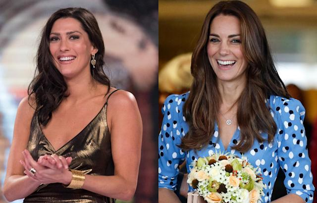 Becca Kufrin (L) is being called a Kate Middleton look-alike (Photo: Getty Images)
