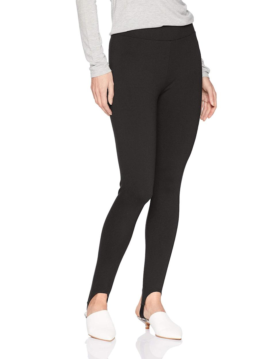 """<br><br><strong>Daily Ritual</strong> Stirrup Ponte Legging, $, available at <a href=""""https://amzn.to/2Cd3rgt"""" rel=""""nofollow noopener"""" target=""""_blank"""" data-ylk=""""slk:Amazon"""" class=""""link rapid-noclick-resp"""">Amazon</a>"""