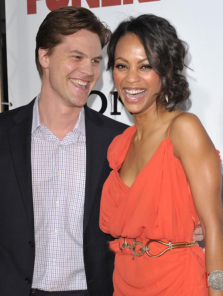 """<a href=""""http://movies.yahoo.com/movie/contributor/1809121785"""">Keith Britton</a> and <a href=""""http://movies.yahoo.com/movie/contributor/1800362233"""">Zoe Saldana</a> at the Los Angeles premiere of <a href=""""http://movies.yahoo.com/movie/1810077967/info"""">Death at a Funeral</a> - 04/12/2010"""