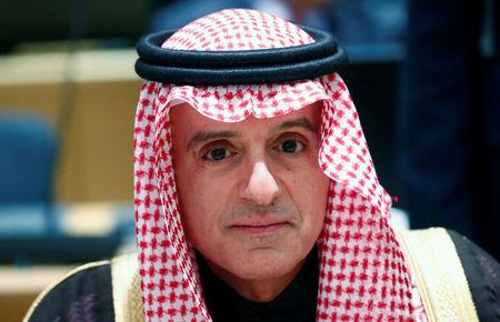 FILE PHOTO: Saudi's Minister of State for Foreign Affairs Adel al-Jubeir attends a joint meeting of EU and League of Arab States foreign ministers in Brussels