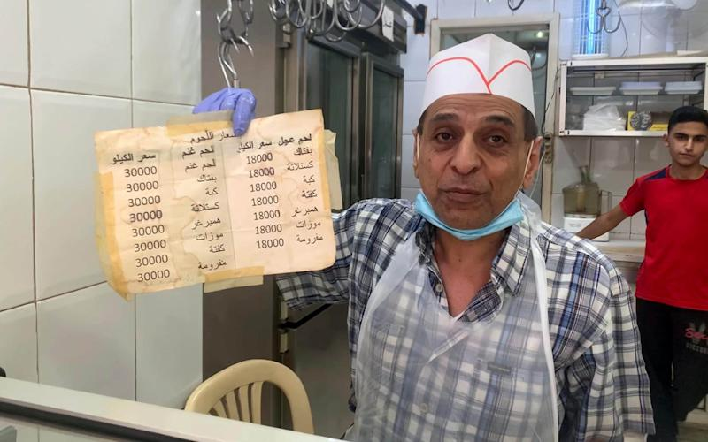 Mohamad Chreim in his butcher's shop - Abbie Cheeseman