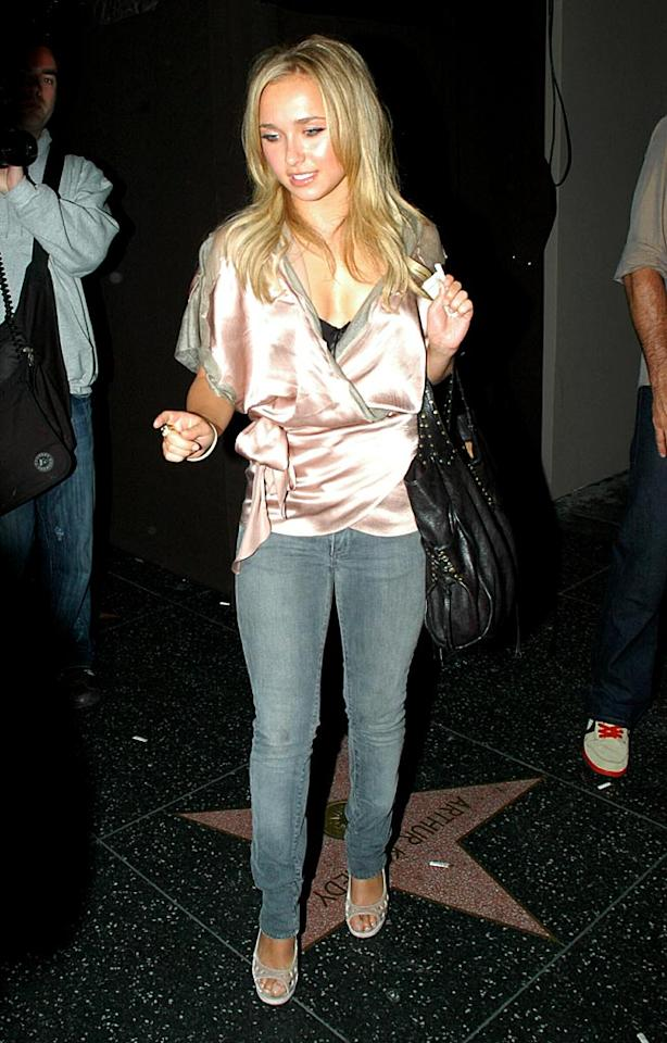 "TV hottie Hayden Panetierre features some skinny jeans outside Hollywood hotspot Parc. G Hollywood/<a href=""http://www.splashnewsonline.com"" target=""new"">Splash News</a> - June 9, 2007"