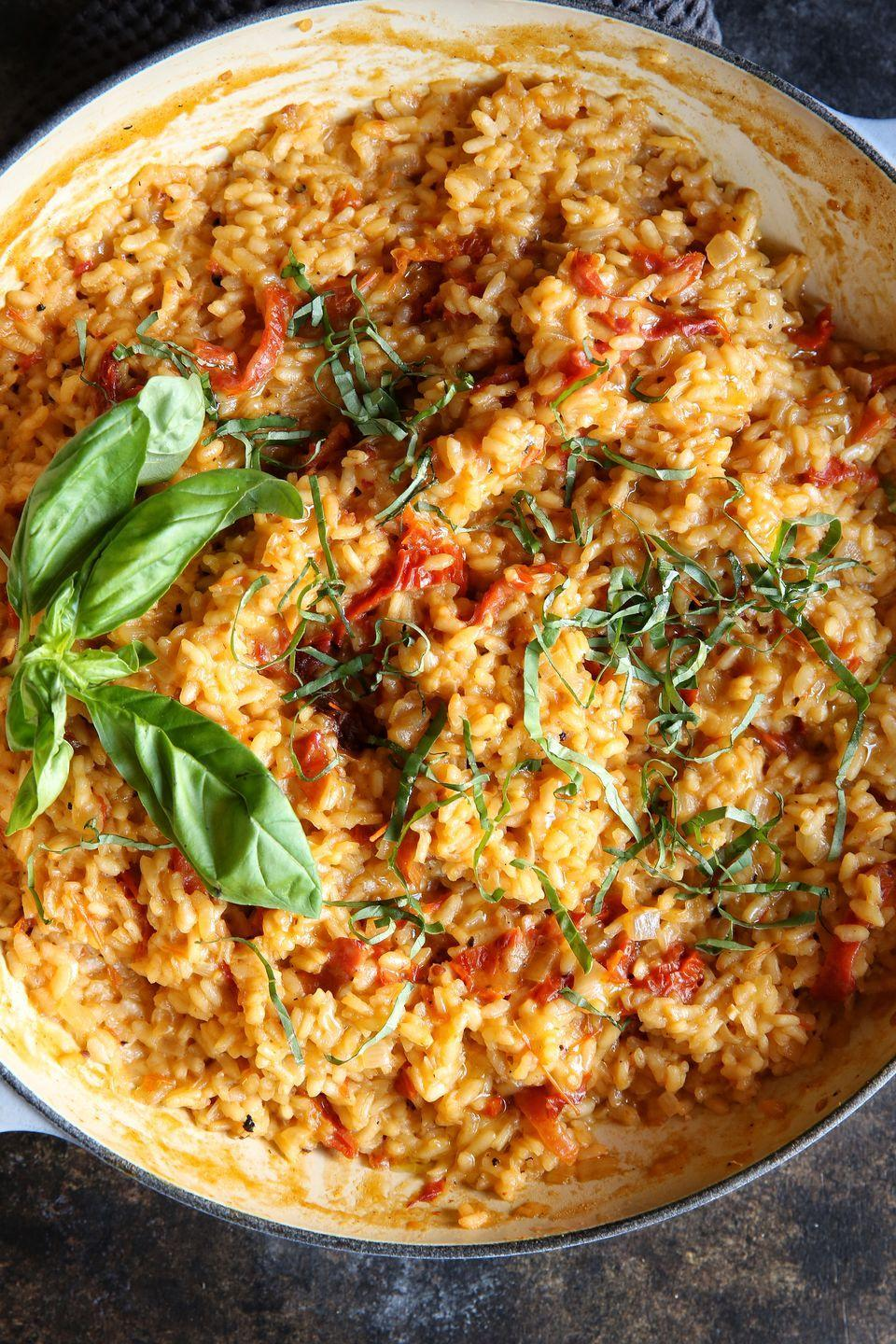 "<p>Show the fancy restaurant dish who's boss.</p><p>Get the recipe from <a href=""https://www.delish.com/cooking/recipe-ideas/recipes/a49321/sun-dried-tomato-risotto/"" rel=""nofollow noopener"" target=""_blank"" data-ylk=""slk:Delish"" class=""link rapid-noclick-resp"">Delish</a>.</p>"