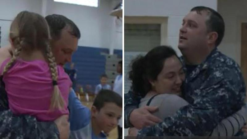 Military Dad Surprises Family After Being Deployed For 6 Months