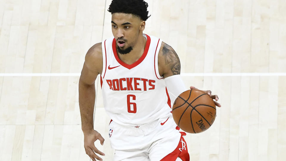 Kenyon Martin Jr, pictured here in action for the Houston Rockets.