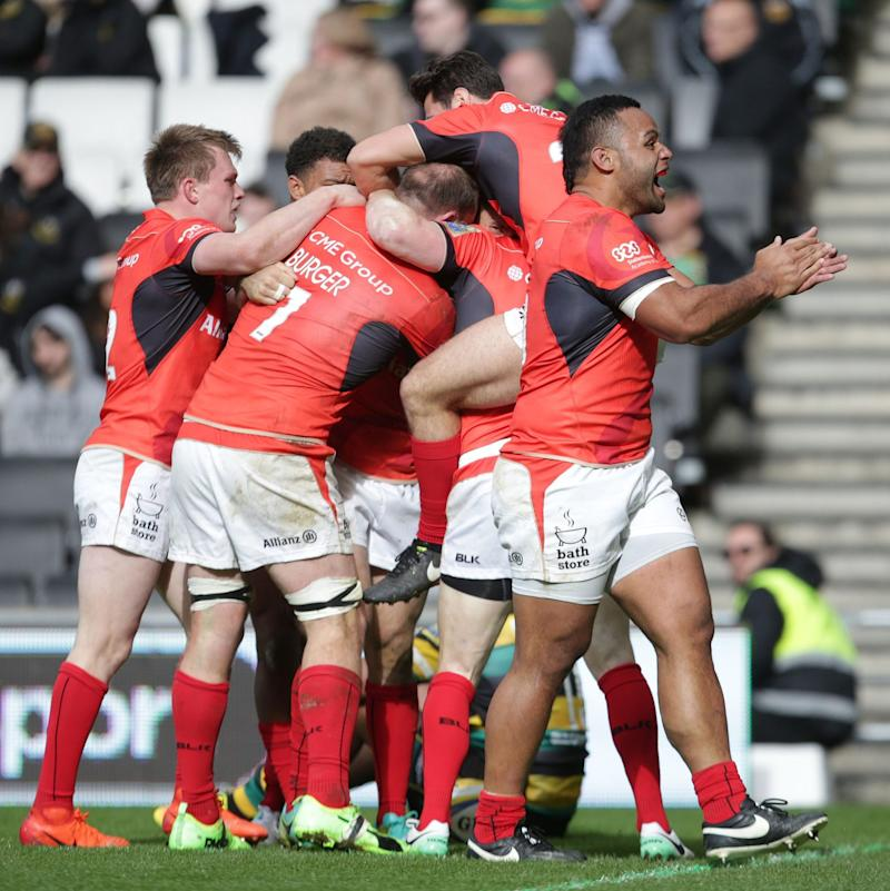 Saracens left it late to beat Northampton