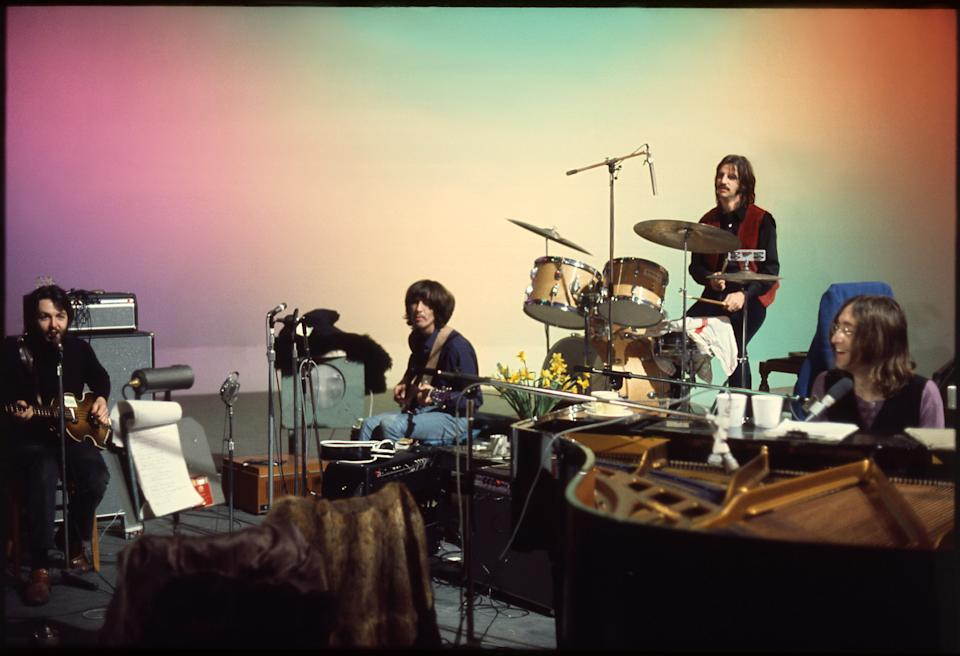The Beatles in <i>THE BEATLES: GET BACK</i>. (Linda McCartney)