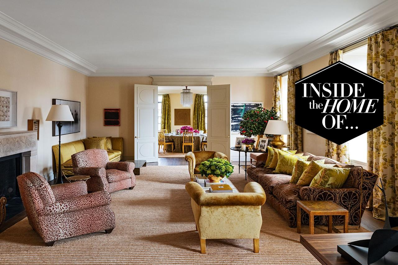"""<p>The granddaughter of Estée Lauder, Aerin Lauder has lived in her quiet apartment block on Park Avenue in New York for 20 years. The feminine, refined space that the beauty mogul shares with her husband and two sons is an oasis in the middle of the city, with big windows overlooking the bustle below.</p><p>The four bedroom apartment is filled with artwork, framed photos and beautiful ornaments to create a perfectly elegant living space that feels polished, yet inviting. Take a tour of Lauder's home below.</p><p>Aerin Lauder features in <a href=""""https://www.amazon.co.uk/Be-My-Guest-Tastemakers-anglaise/dp/2081513390?tag=hearstuk-yahoo-21&ascsubtag=%5Bartid%7C1927.g.33829529%5Bsrc%7Cyahoo-uk"""" target=""""_blank"""">Be My Guest: At Home with the Tastemakers by Pierre Sauvage</a></p>"""