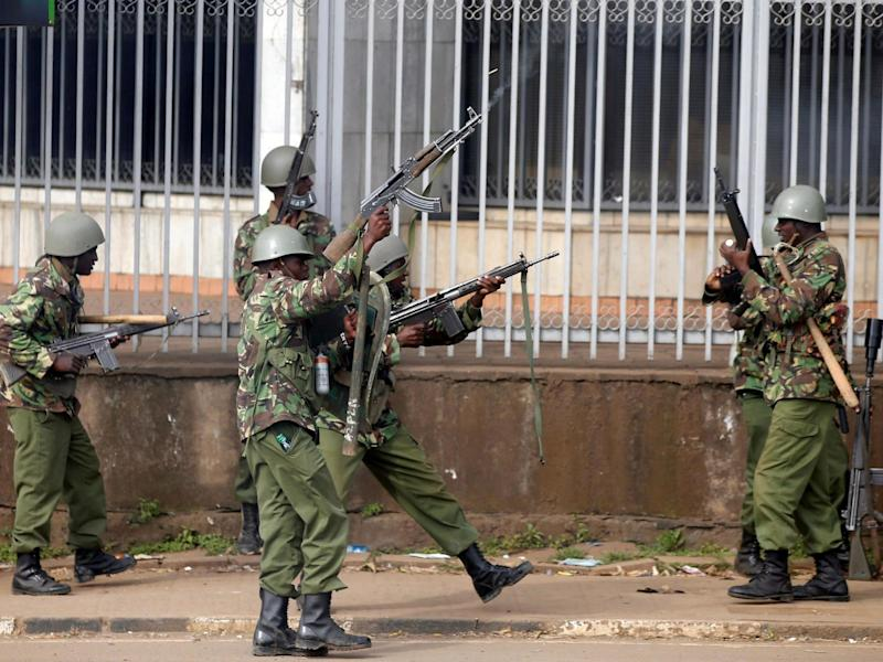 Anti-riot police fire live bullets into the air to disperse supporters of Kenya's opposition coalition in 2017: REUTERS