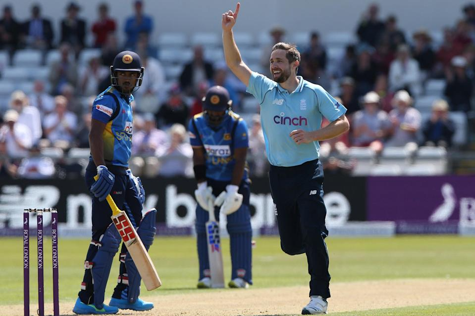 Chris Woakes celebrates another wicket (Getty Images)