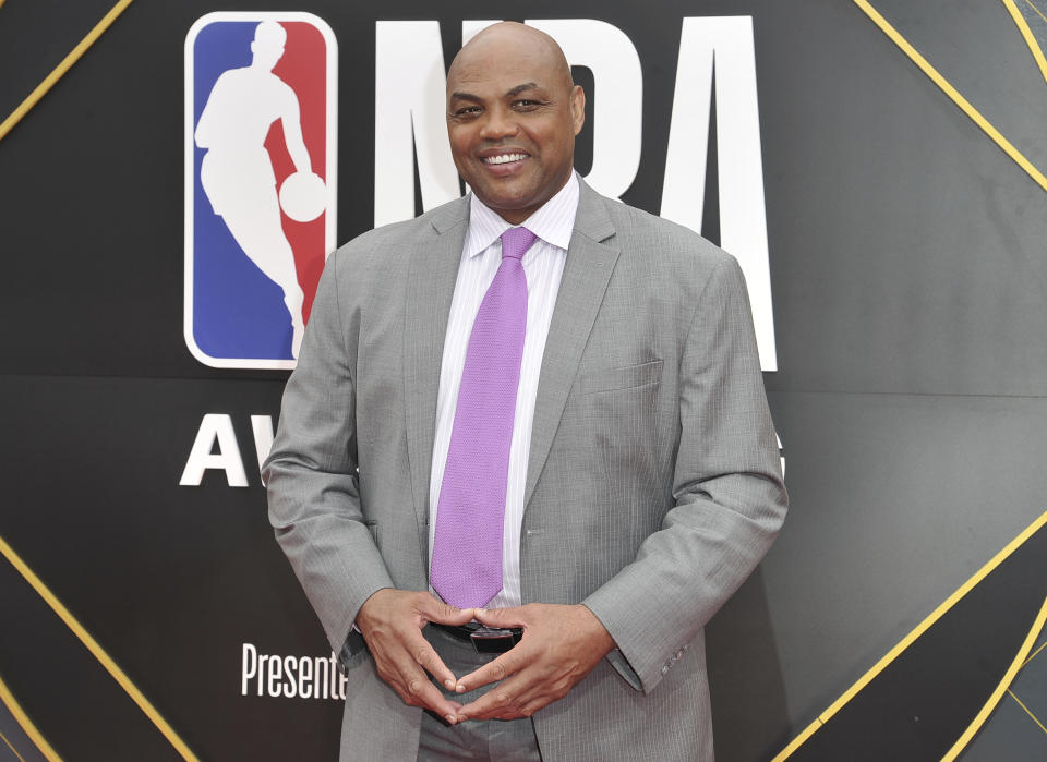 Charles Barkley arrives at the NBA Awards on Monday, June 24, 2019, at the Barker Hangar in Santa Monica, Calif. (Photo by Richard Shotwell/Invision/AP)