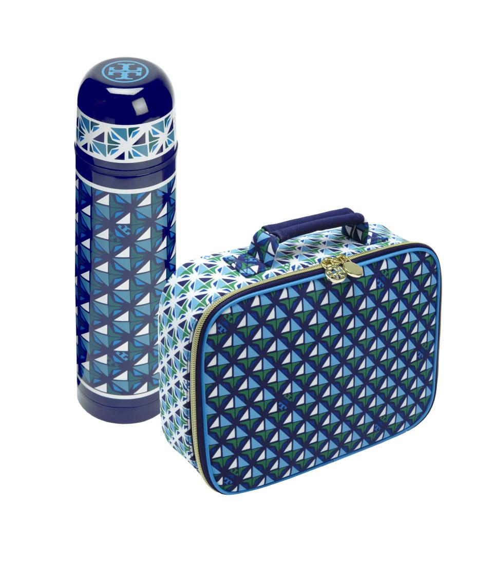 <b>Tory Burch for Target + Neiman Marcus Holiday Collection Beverage Container and Lunch Box </b><br><br> Beverage Container Price: $24.99<br><br> Lunch Box Price: $19.99<br><br>