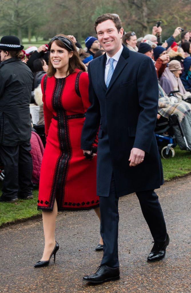 """<p>The royal family <a href=""""https://www.marieclaire.com/celebrity/a34156825/princess-eugenie-pregnant-first-child-jack-brooksbank/"""" rel=""""nofollow noopener"""" target=""""_blank"""" data-ylk=""""slk:announced"""" class=""""link rapid-noclick-resp"""">announced</a> the happy news with a post on their official Twitter account in late September. </p><p>""""Her Royal Highness Princess Eugenie and Mr Jack Brooksbank are very pleased to announce that they are expecting a baby in early 2021,"""" the tweet read. """"The Duke of York and Sarah, Duchess of York, Mr and Mrs George Brooksbank, The Queen and The Duke of Edinburgh are delighted with the news.""""</p>"""